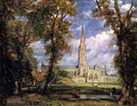 Вид на Собор в Солсбери из епископского сада, 1825