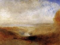 Пейзаж с рекой и залив на заднем плане