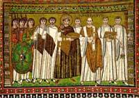Юстиниан с придворными (мозайка)
