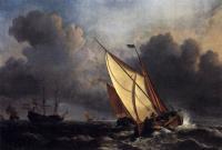 Голландские рыболовецкие суда в шторм