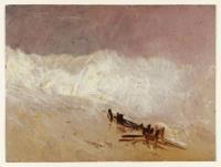 Прибрежный пейзаж с волнами и волнорезом