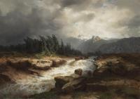 Горный поток перед бурей