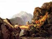 Сцена из «Последнего из могикан», Дж. Фенимора Купера