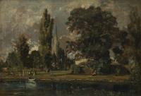 Собор в Солсбери и Лиденхолл со стороны реки Эйвон