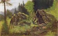 Шалаш в лесу. 1870-е