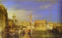 Мост                    вздохов, Дворец Дожей и здание Таможни, Венеция, Каналетти, картина