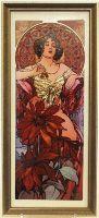 Картина Рубин 16х38 см, фарфор, серия Mucha