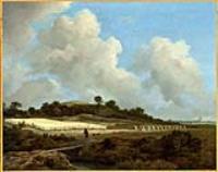 Вид зерновых полей с далекой города