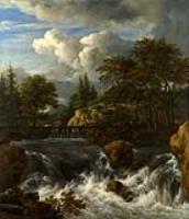 Водопад в скалистом пейзаже