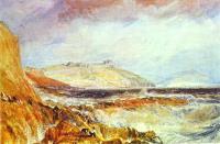 Замок Пенденнис, пейзаж Корнуэлла, развалины