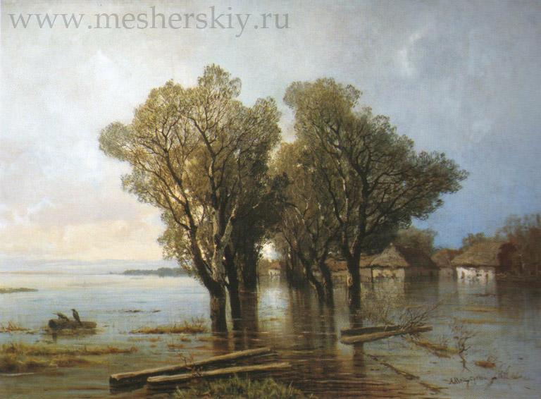 Наводнение в деревне