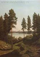 Пейзаж с озером.