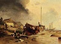 Рыбацкая лодка на берегу
