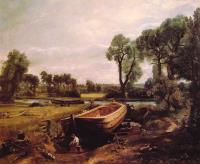 Строительство лодки на реке Стоур