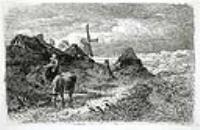 Голландский пейзаж с женщиной и коровой