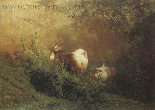 Пейзаж с козами (Мещерский А.И.)