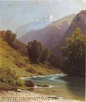 Горный пейзаж. 1884