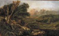 Горный пейзаж с рыбаками