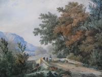 Пейзаж. (цветная гравюра)