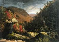 Глубокое ущелье в горах Кэтскиллз (двойной эффект)