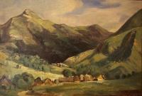 Пейзаж в Вигене, долина Сантуар, Оверн