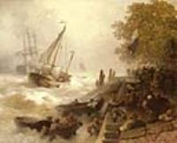 Возвращение в гавань в бурном море