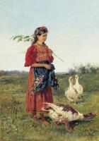 Девочка с гусями