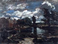 Мельнице во Флэтфорде со шлюза на реке Стоур