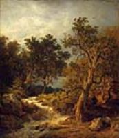 Пейзаж с потоком