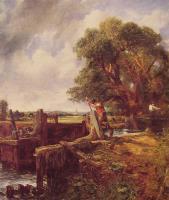 Лодка, проходящая шлюз