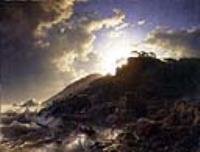 Закат после бури у побережья Сицилии