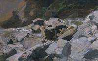 Река      Lutschine около Lauterbrunnen
