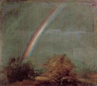 Пейзаж с двойной радугой