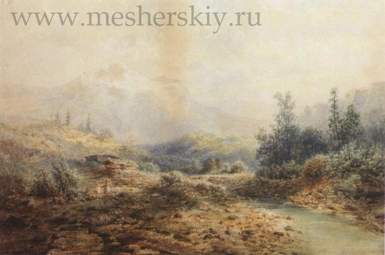 Горная речка на Кавказе