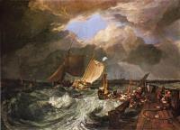 Пьер Калэ, с французскими торговцами рыбой, выходящими в море.                    Прибытие английского пакет-бота