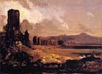 Окрестности Рима (зарисовка для картины Акведук в окрестностях Рима)