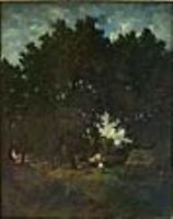 Деревня под кронами деревьев