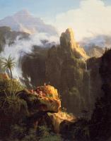 Ландшафтная композиция.  Святой Иоанн в пустыне