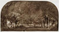 Аллея каштановых деревьев
