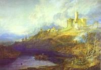 Замок Воркверф, Нортумберленд, Гром, приближение шторма на заходе солнца