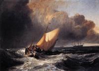 Голландские суда, попавшие в шторм