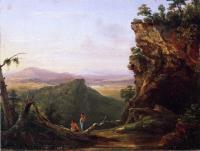 Пейзажная сцена Наблюдая индейцев