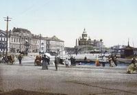 Рыночная площадь и пристань в центре Хельсинки (1890-е годы)