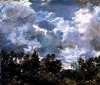 Облака и деревья (эскиз)