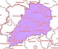 Вышневолоцкий уезд в современной сетке районов
