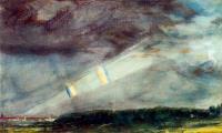 Вид Лондона с двойной радугой