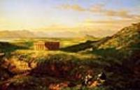 Храм Сегесты с зарисовок художника