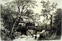Мельница рядом с потоком