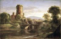 Руины замка и река