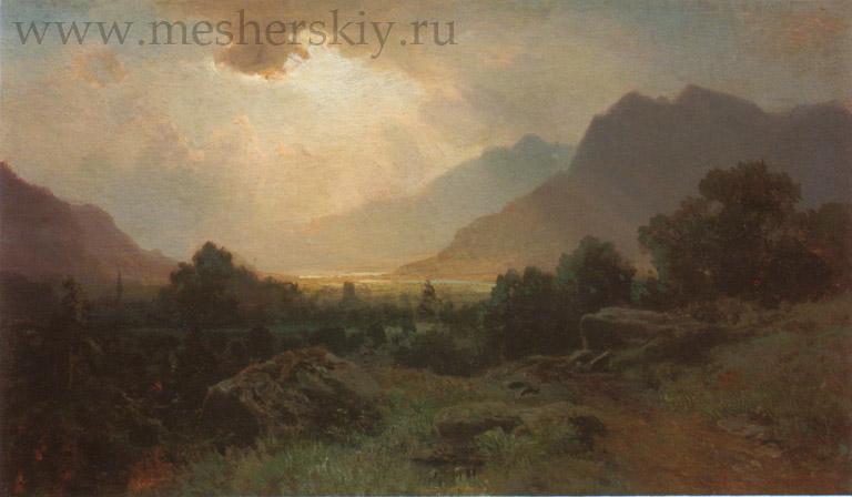 Озеро в горах 1870
